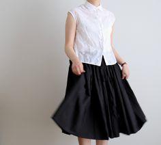oldman's tailor R&D.M.Co-  no.2161  シルクコットン バルーンスカート