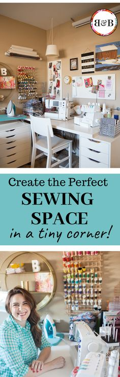 Is a lack of space cramping your creative style?  You can still make awesome stuff without a dedicated sewing room! This creative space is only 30 sq ft!