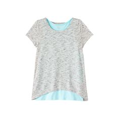 Girls 7-16 & Plus Size Double Layer Tulip Back Tank Top Tee, Size: 16, Silver