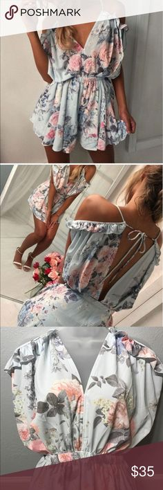 Floral romper Exclusive pieces from boutique.                                             Check my profile for more new fashion cloths and sizes Dresses Mini