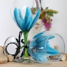 easy wine glass painting ideas - Google Search