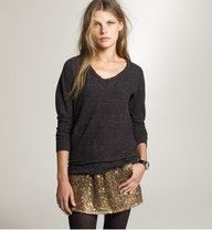gold sequin skirt!