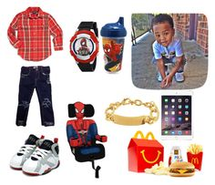 """Junior~Spiderman"" by lilgigglesk ❤ liked on Polyvore featuring Ralph Lauren and Taya"