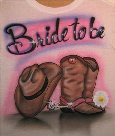 bride to be airbrush t-shirt; tacky bachelorette