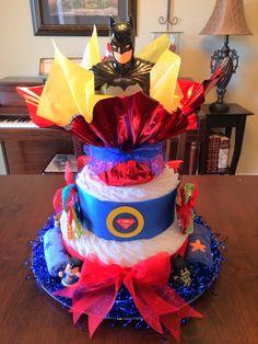Super Heroes Diaper Cake