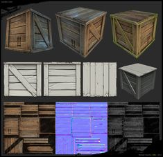 Wooden Crate 3D Model  (Michael Vicente, 2011)