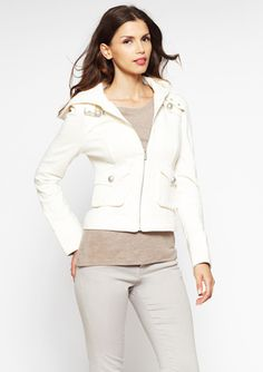 BLANC NOIR Sweatshirt Jacket with Hood