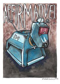 K-9 Doctor Who Watercolor Original Art by ElizabethJJancewicz