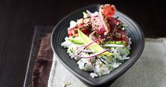 Sushi Salad With Seared Tuna, Avocado And Rice Wine Dressing Recipe on Yummly. @yummly #recipe
