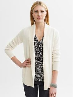 Cashmere open cardigan | Banana Republic [Cocoon or Camel Heather]