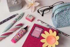 Make your notes in style with this chic notebook from our Mia range! Pop it in your handbag and jot down notes throughout the day with the handy pencil attached inside. Don't forget to stock up on our gorgeous floral pens and pencil case to match! Pens And Pencils, Uni, Pink And Green, Don't Forget, Stationary, Notebook, Notes, Range, Make It Yourself