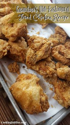 Secret Fried Chicken Recipe The best and most unique fried chicken recipe you'll find. This is Granny's Secret Fried Chicken which uses her secrets, the secrets that I'm revealing hereMost Most may refer to: Fried Chicken Brine, Best Fried Chicken Recipe, Fried Chicken Wings, Baked Chicken, Cashew Chicken, Chicken Gravy, Roasted Chicken, Chicken Thighs, Chicken Recepies