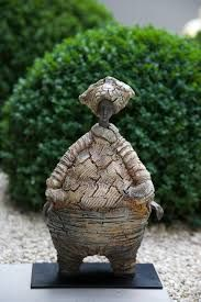 Material Matters: Sculpture from Fabric! - Fiber Art Now This looks so interesting. Arts And Crafts Projects, Mixed Media Artists, Mixed Media Canvas, Stone Art, Fiber Art, Sculpting, Garden Sculpture, Fabric, Painting