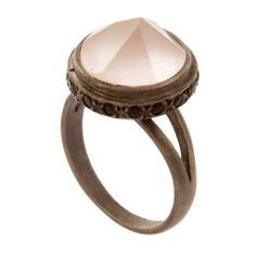 Rose Quartz Crown Ring | Didi Jewellery