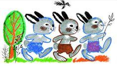 The Three Bunnies A három nyúl - Reich Károly illusztrációja Book Illustration, Childrens Books, Illustrators, Folk Art, Retro Vintage, Fairy Tales, Rabbit, Projects To Try, Bunny