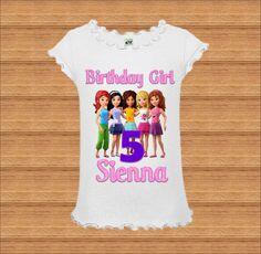 Lego Girls Birthday Shirt - Lego Friends Birthday Shirt by BirthdaysGalore on…