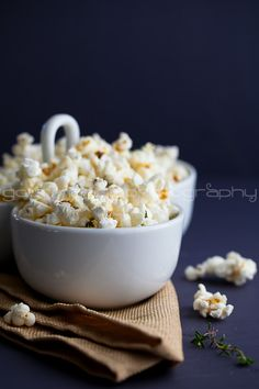 Truffle Butter, Parmesan, and Thyme Popcorn