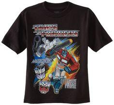 Transformers Boys 2-7 Crew Tee, Black, 5/6