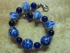 Bracelet, bounty of blues by las81101 on Etsy