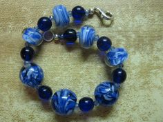 Bracelet, bounty of blues by las81101 on Etsy