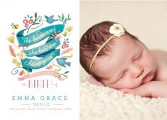 The Birds and the Bees by Lori Wemple for Minted // birth announcement
