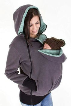 Baby Carrying Jacket, baby carrier coat, hoodie, 3in1, mother and baby…