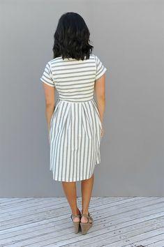 Chambray Stripe Dress   3 Colors   Jane