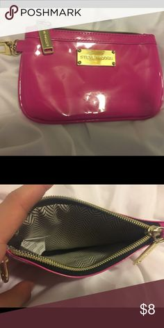 steve madden pink little bag can store coins , make up 100% polyuhrethane Bags Cosmetic Bags & Cases