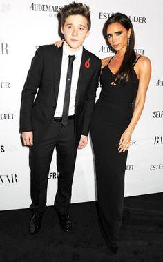Brooklyn Beckham and Victoria Beckham.   Oh my god brooklyn you make me feel like a cougar. woa.