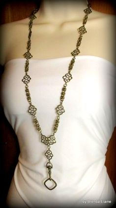 Necklace Lanyard with Exotic Accents and Byzantine Chainmaille | byBrendaElaine - Jewelry on ArtFire