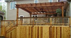 Pergola - with overhead fan
