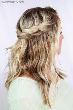 Goddesses' hairstyle: Crown Twist Braid!