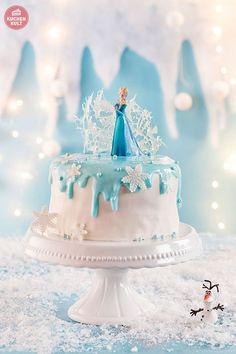 Eiskönigin Kindergeburtstag FROZEN Party Torte Elsa