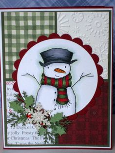 I love the different papers used in making this card