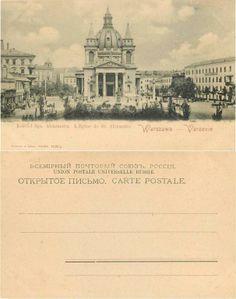 Warszawa Kościół Św. Aleksandra około 1900r Vintage postcard, Alte postkarte aus…