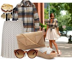 """""""Polka Dots and Plaid"""" by lazymazei on Polyvore"""