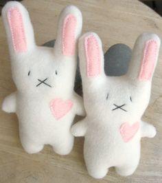 Etsy Otis Bun Bun! // $14 Handmade White Rabbit plush bunny-Stuffed Animal Bunny-Cute Stuffed Bunny-Tiny White Plush Rabbit-child friendly--Child gift-Classic plush