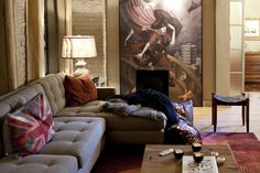 Set Decorator Claire Kaufman SDSA keyed off of this poignant artwork for color and line choices