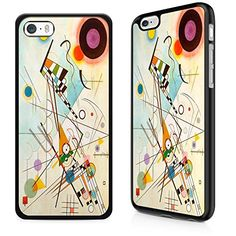 Gadget Zoo Classic Art Collection Composition VIII Kandinski Famous Artist Painting Range Phone Case Hard Cover For iPhone 5C Black -- See this great product. (Note:Amazon affiliate link)