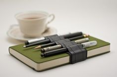 Journal Bandolier / recycled rubber / alt pencil case