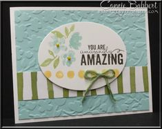 Painted Petals, Spring Flower, Painted Blooms, Stampin' Up!, #stampinup, You can order supplies from Connie Babbert, www.inkspiredtreasures.com