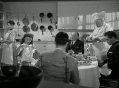 """""""Christmas in Connecticut"""" film kitchen, with Barbara Stanwyck (fun film, btw) Classic Christmas Movies, Retro Christmas, Classic Movies, Holiday Movies, Old Movies, Vintage Movies, Christmas In Connecticut, Netflix Movies To Watch, Movie Decor"""