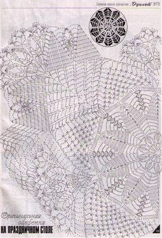 Crochet Patterns and A Great Love of Doilies. Free Crochet Doily Patterns, Crochet Doily Diagram, Crochet Chart, Filet Crochet, Crochet Motif, Crochet Designs, Crochet Books, Crochet Home, Thread Crochet