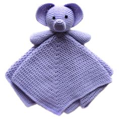 Cute crocheted elephant baby security blanket. The pattern costs a little bit..but think of all the baby gifts that you could make with it!