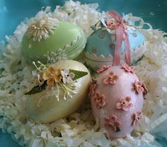 paper mache easter eggs  julie collings