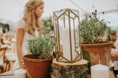 A Simple, Joyous, Loch Lomond Wedding with Family at the Heart Wedding Props, Wedding Blog, Dream Wedding, Wedding Ideas, Marquee Wedding Inspiration, Herb Pots, Wedding Table Decorations, Terracotta Pots, Wedding Flowers