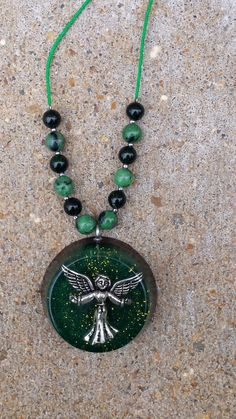 Orgonite Angel Necklace  FREE SHIPPING by FountainOfSpirit on Etsy