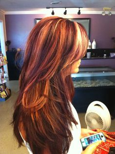 67 Ideas Hair Color Red And Blonde Highlights Low Lights Colour Hair Color And Cut, Cool Hair Color, Hair Colors, Dark Red Hair, Red Blonde, Burgundy Hair, Brown Hair, Auburn Hair, Blonde Highlights