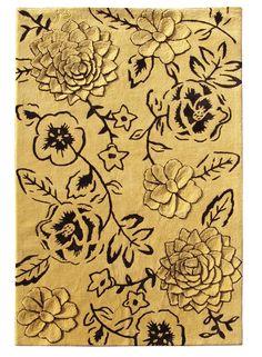 Tapis GERMINAL jaune de la collection Urban carpets