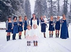 Bridesmaids Skirts with Cardigans | love everything about this! tulle skirts, cardigans, boots (I want ...
